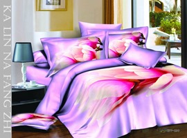 Wonderful 4 Piece Flowers Print Comforter Sets with Cotton