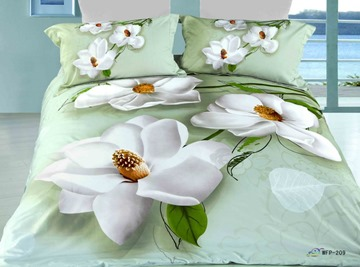 Crisp and Colorful Florals Print 4 Piece Cotton Comforter Sets