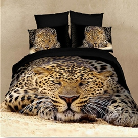 High Quality Strong and Smart King in the Jungle 4-Piece Bedding Sets