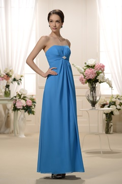 Unique Beaded Pleats A-Line Sweetheart Neckline Floor-length Bridesmaid Dress