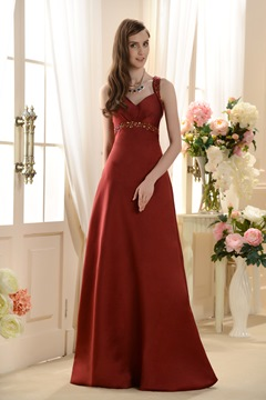 Attractive A-Line/Princess Sweetheart Long Bridesmaid Dress