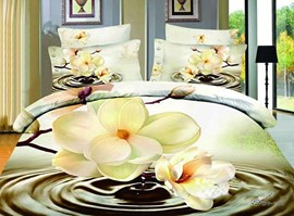 Hot Sell Beauty Flower From The Water 4 Pieces Bedding Sets