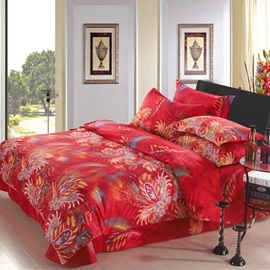 Bright Read Phenix Theme 4 Piece Bedding Set
