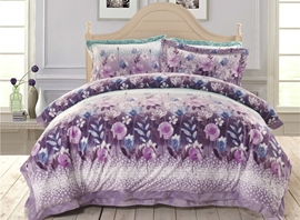 Ericdress Purple Flower Dancing 4-Piece Bedding Sets