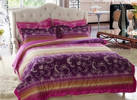 Ericdress Colorful Unique Flower Pattern 4-Piece Bedding Sets