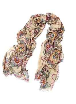 Fascinating Totem Chinese Style Hot Pepper Retro Korean Shawl Scarf