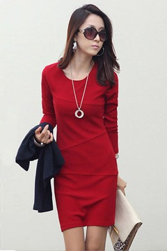 Ericdress Split Joint Long Sleeves Sheath Dress