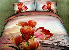 Ericdress Flower Under Sunset Print 3D Bedding Sets
