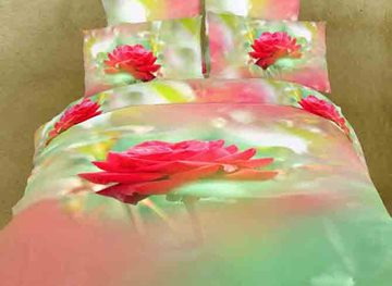 High Quality Fresh Flowers 4 Piece 3D Bedding Sets