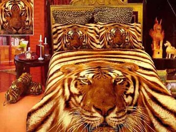 Amazing Vivid Tiger Pattern 4 Piece 3D Bedding Sets