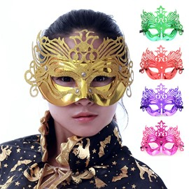 Halloween Chic Mystery Princess Half Face Mask