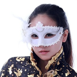 Halloween Chic Sweet Flower Princess Half Face Mask