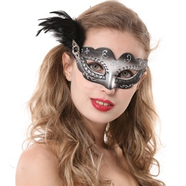 Attractive Sexy Feather Half-face Hallowmas Party Princess Mask