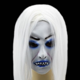 White-hair Ghost Halloween Mask