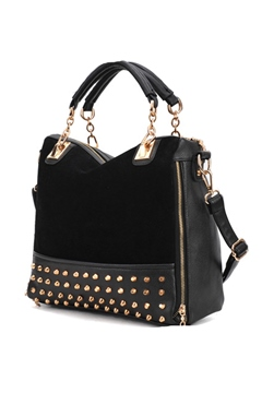 Rivet Decorated Shoulder Bag