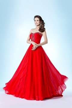 Fancy Strapless Beading Sweetheart A-Line Evening/Prom Dress