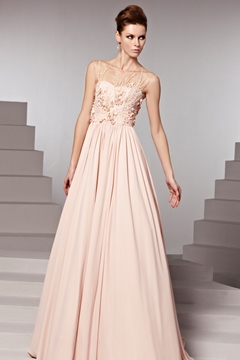 Classic and Beautirul A-Line Floor-Length Evening Dress