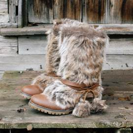 Ericdress Luxurious Fur Flat Snow Boots