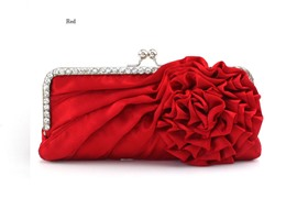 Impressive Silk Rhinestone Evening/Wedding Handbag