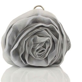 Impressive Silk Rose Shape Evening/Wedding Handbag