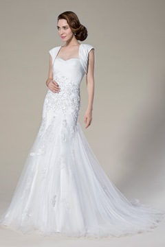 Gorgerous Trumpet/Mermaid Sweetheart Sweep/Brush Train Wedding Dress