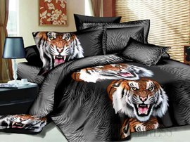 3D Siberian Tiger Bedding Sets