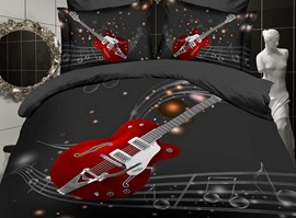 Music Life Guitar 100% Cotton Bedding Sets