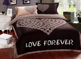 Love Forever Chocolate Heart 100% Cotton Bedding Sets
