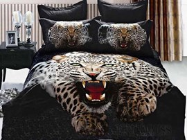 3D Special Leopard 100% Cotton Bedding Sets