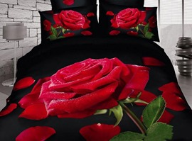 Tender and Beautiful Rose 100% Cotton Bedding Sets