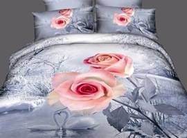 Wild-flower Song 100% Cotton 3D Bedding Sets