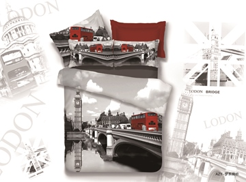 Amazing Best Quality Dream On Bridge Print 4 Pieces Whole Cotton Bedding Sets