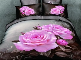 Beauty Rose-briar 3D 100% Cotton Bedding Sets