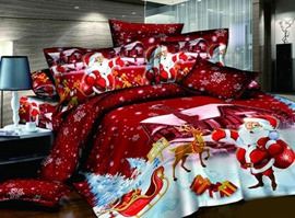 Red Santa Claus 100% Cotton Kids Bedding Sets