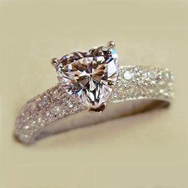 Ericdress Heart Shape Imitation Diamond Ring