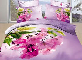 Romantic Cherry Blossom 100% Cotton 3D Bedding Sets