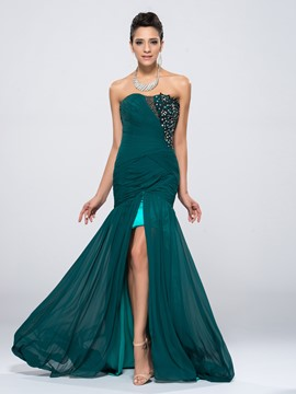 Ericdress Charming Mermaid Split-Front Evening Dress