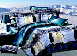 The Scenery Of Penguin 100% Cotton Animal Print Bedding Sets