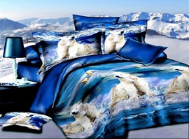Glacial Period 100% Cotton Animal Print Bedding Sets