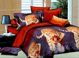 Tigers In The Water 100% Cotton Animal Print Bedding Sets