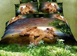 Vogue Passion Leopard 100% Cotton Animal Print Bedding Sets