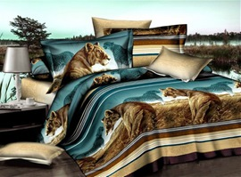 The Scenery Of Grassland 100% Cotton Animal Print Bedding Sets