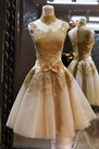 Ericdress Wonderful High Neck Bowknot Embellished Cocktail/Prom Dress