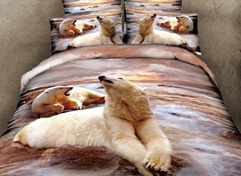Ericdress Arctic Adventure Bear Print Bedding Sets