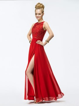 Brilliant A-line Floor-length Appliques Evening Dress