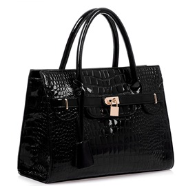 Fashion Elegant Croco and Lock Handbags for Women