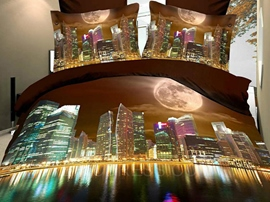 The Modern Urban Landscape Fashion 3D Bedding Sets