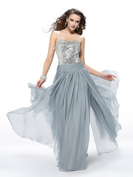 Extravagant A-Line Sweetheart Beading Sequins Prom Dress