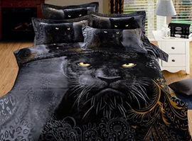 Black Leopard Animal Print Bedding Sets