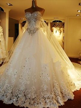 Ericdress Luxury Chapel Train Wedding Dress